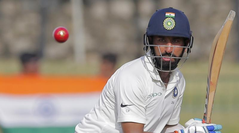 Cheteshwar Pujara has already scored two centuries in the Test series against Sri Lanka. (Photo: AP)