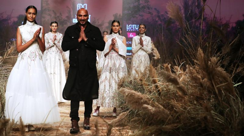 Through his collection he details out the triumph of a woman's independent spirit and the signature of her soul. (Photo: FDCI)