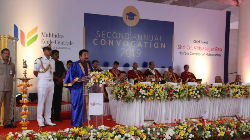 The convocation held at the MEC Campus in Bahadurpally, Hyderabad had Shri C Vidyasagar Rao, Hon'ble Governor of Maharashtra, as the Chief Guest.