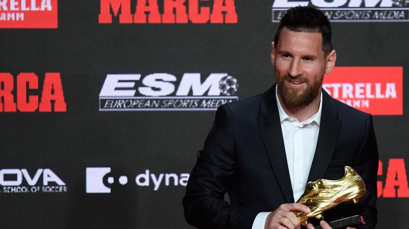 Messi registered 36 goals from 34 games and it ensured the award win for the striker. (Photo: AFP)