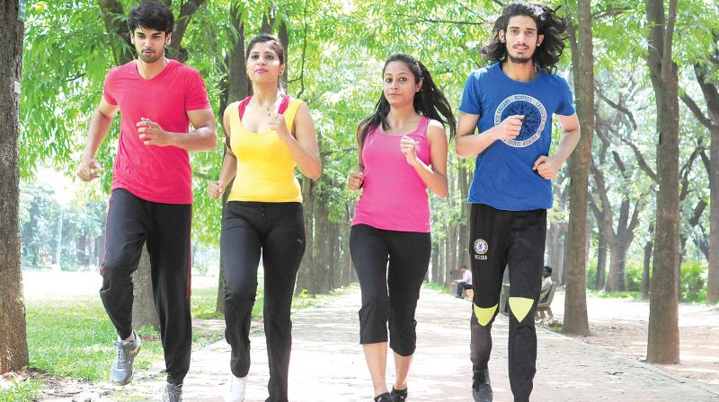A file picture of runners in Bengaluru city.