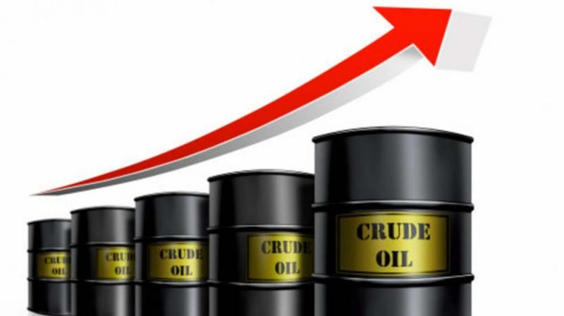 On the Multi Commodity Exchange, crude for delivery in November traded higher by Rs 3, 0.08 per cent, at Rs 3,855 per barrel in 18,573 lots.