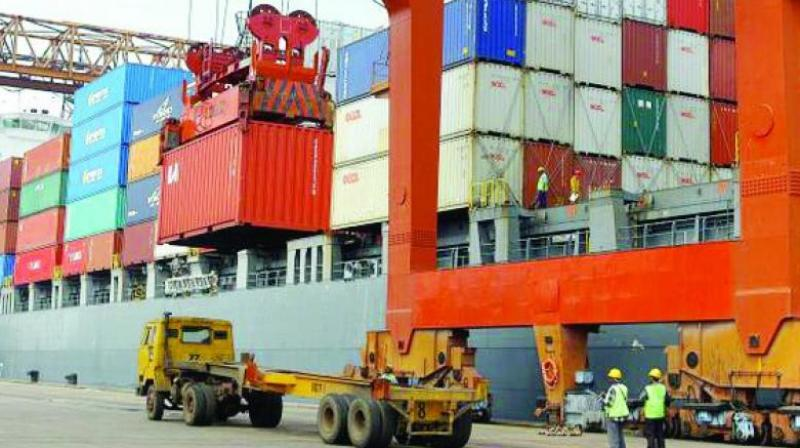 Exports recorded a growth of 16.13 per cent, while the imports during the first five months of this fiscal grew by 17.34 per cent.