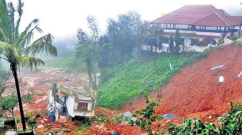 A file photo of a major landslide which occurred in Kodagu last year.