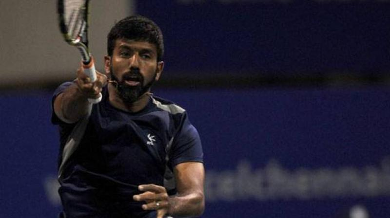 Rohan Bopanna began his partnership with Edouard Roger-Vasselin with consecutive straight sets win in a single day to reach the semifinals of the Sydney International, here on Wednesday.(Photo: PTI)
