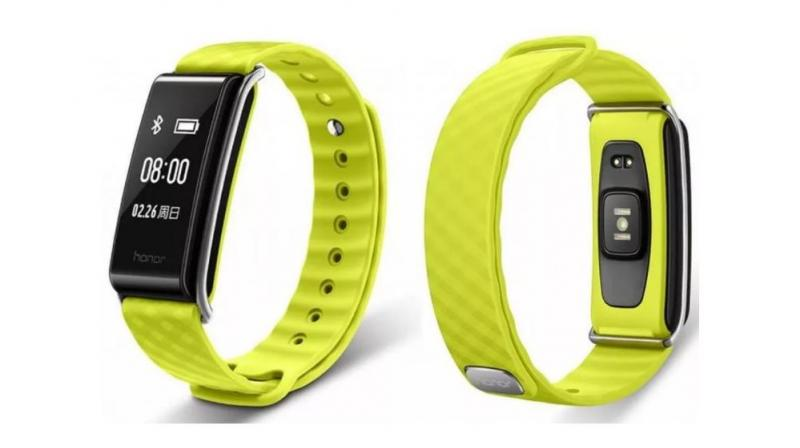 It's Bluetooth-compatible and includes a pedometer, sleep tracker, exercise tracker, and sedentary reminder.