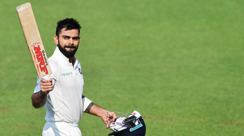 Kohli smashed 254 runs in the second Test match helping India to reach a massive total of 601 runs in the first innings. (Photo: AFP)
