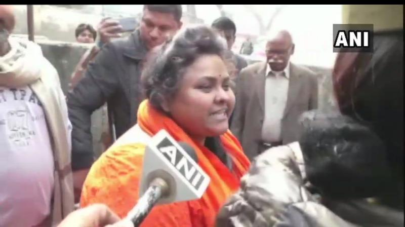 """""""No regrets. We have not committed any crime. We have used our Constitutional right, """" says Pooja Pandey. (Photo: ANI)"""