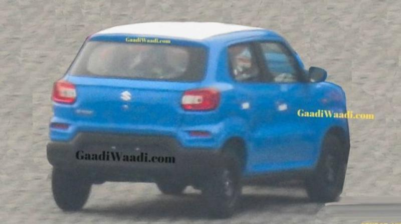 The Maruti Suzuki S-Presso rear end has spied in two variant levels and exterior colours.