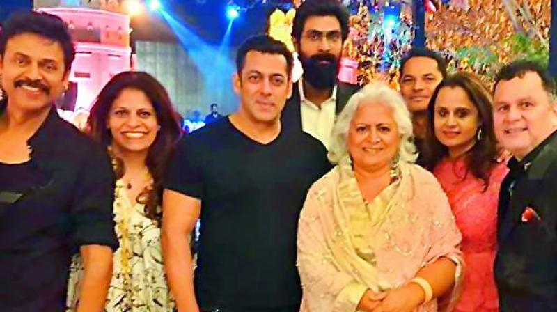Salman Khan at Aashritha's wedding!