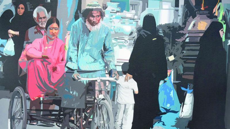 An artwork by Fawad Tamkanat.
