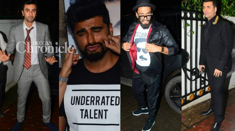 Arjun Kapoor turns a years older on Monday and celebrities from Bollywood were present to celebrate the occasion with him in Mumbai late Sunday. (Photo: Viral Bhayani)