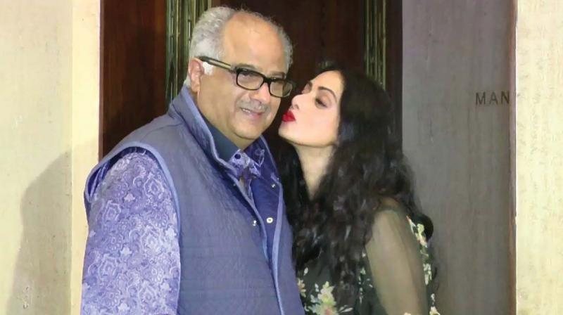 Boney Kapoor breaks down while talking about wife Sridevi; here's what he said