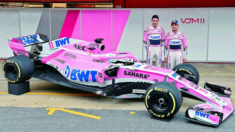 force india unveil car for the season. Black Bedroom Furniture Sets. Home Design Ideas
