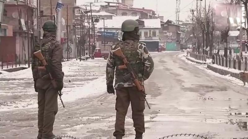 Mopping operation is underway at Srinagar's Karan Nagar after both the terrorists were gunned down on Tuesday. (Photo: ANI | Twitter)