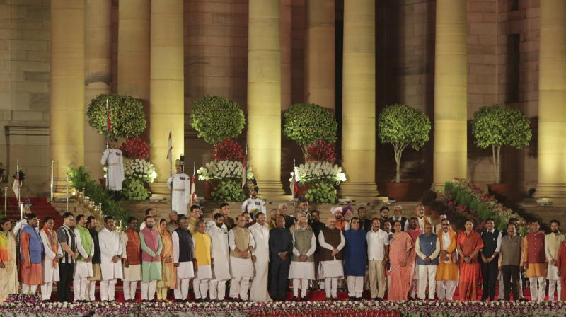 The oath was administered by President Ram Nath Kovind. (Photo: AP)