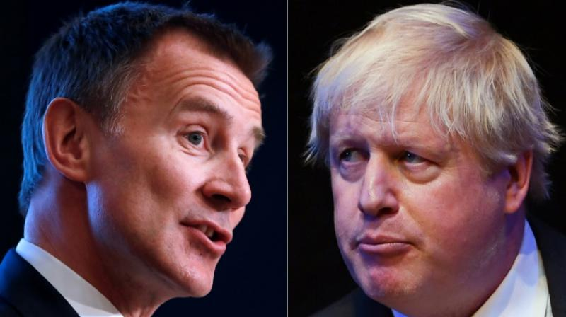 A month-long contest between former London mayor Johnson and Foreign Secretary Jeremy Hunt will end today. (Photo: AFP)
