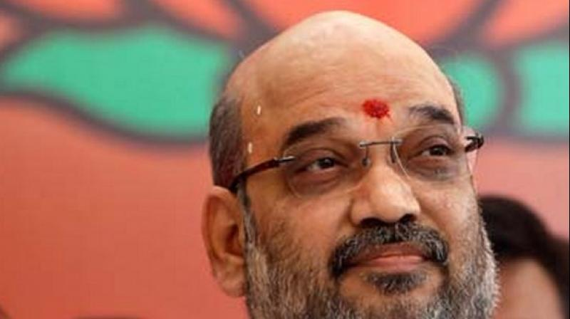 Amit Shah attacks Congress over its Jan Aakrosh rally
