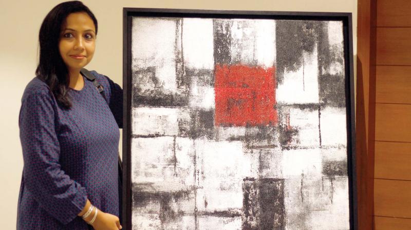 Naina Maithani with her artwork, The Unveiled Love