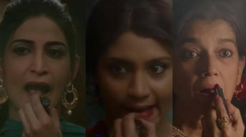 Aahana Kumra, Konkona Sen Sharma and Ratna Pathak Shah in the trailer of 'Lipstick Under My Burkha.'