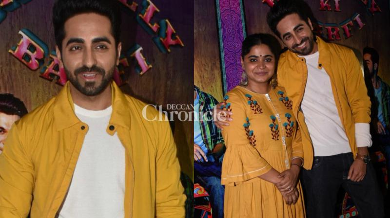 The team of 'Bareilly Ki Barfi' launched the trailer of the film in Mumbai on Wednesday. (Photo: Viral Bhayani)