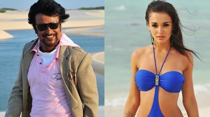 Amy Jackson and Rajinikanth