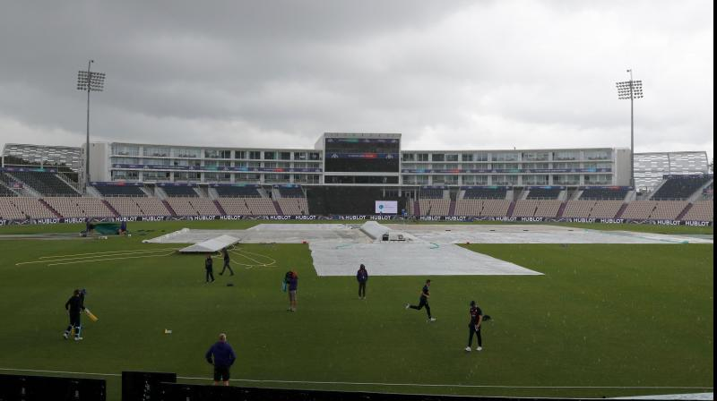 The Sri Lanka versus Bangladesh match was also abandoned due to rain. (Photo: AFP)
