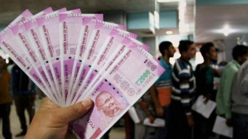 Strengthening of the greenback vis-a-vis other currencies overseas and foreign fund outflows weighed on the local unit.