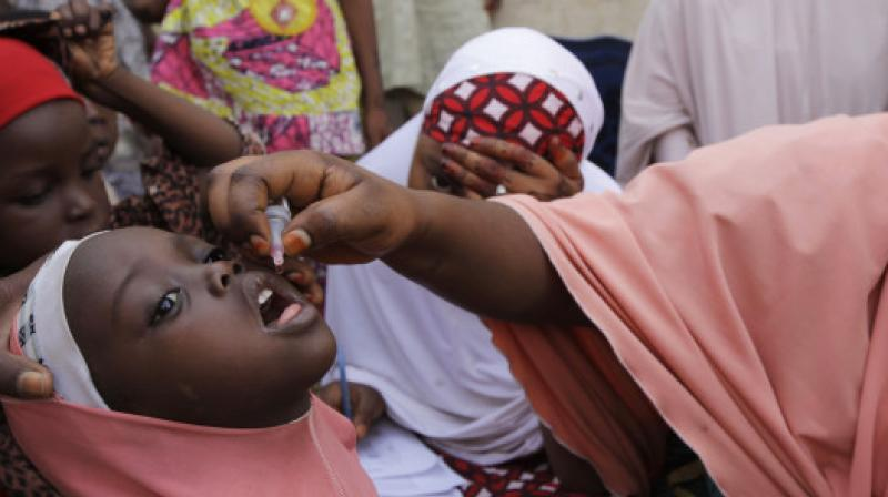 The four-day campaign in Africa by 190,000 vaccinators is part of the response to the discovery of three cases of polio in the insurgency-wracked state of Borno in northeast Nigeria last year. (Photo: AP)
