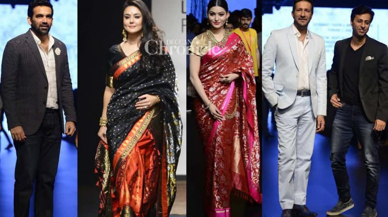 Numerous celebrities walked the ramp at the Lakme Fashion Week on Thursday. (Photo: Viral Bhayani)