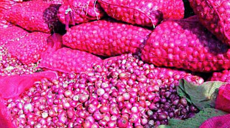 Agriculture ministry has projected 5.8 per cent fall in onion output at 197.13 lakh tonnes in 2016-17 crop year.