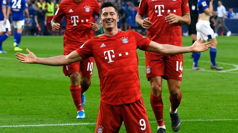Lewandowski completed his ninth Bundesliga hat-trick in the 75th to take his season tally to five goals in two league matches. (Photo: AFP)