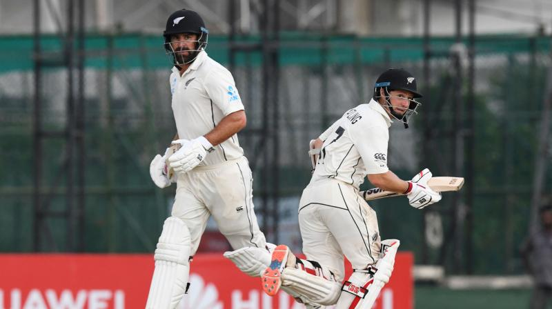 Both Watling and Grandhomme started adding runs to the scoreboard and formed a 113-run partnership. (Photo: AFP)
