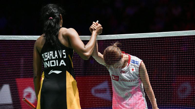 Sindhu trounced Japan's Nozomi Okuhara 21-7, 21-7 in the final of the tournament and became the first Indian shuttler to win gold at the event. (Photo: AFP)