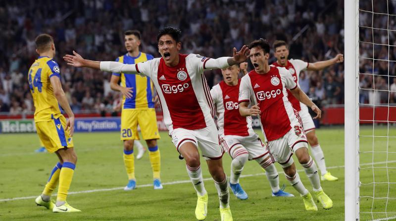 Edson Álvarez, the defender Ajax bought to replace departed captain Matthijs de Ligt, scored the decisive goal Wednesday. (Photo: AFP)