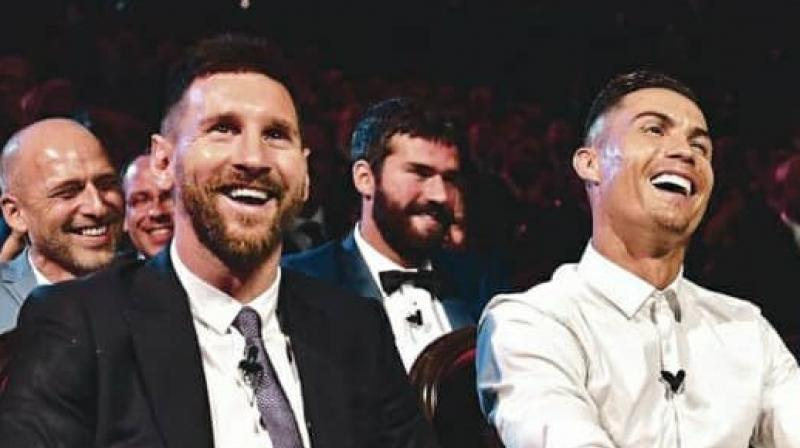 Messi and Ronaldo's 10-year grip on the individual award organized by France Football magazine was broken by Luka Modric last December. (Photo: Twitter)