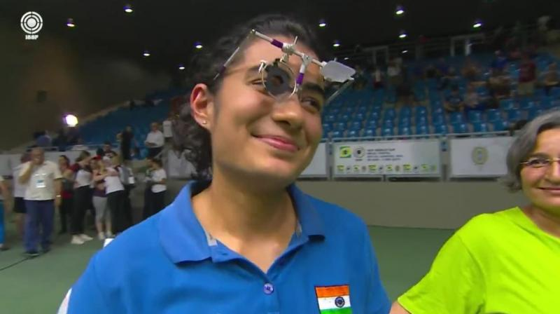 Yashaswini, a student of Economics, had also topped the qualifications by a mile, aggregating a score of 582. (Photo: Twitter/ OfficialNRAI)