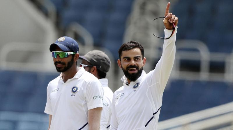 Virat Kohli became the second player to lead India in 50 Tests after Mahendra Singh Dhoni who was the skipper in 60 matches. (Photo: AP/PTI)