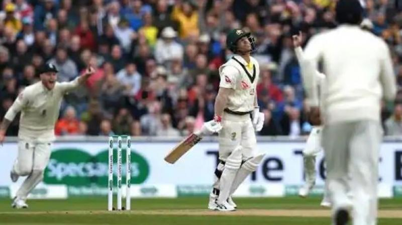 Aussies suffered a bad start as they lost opener David Warner for a duck (second time in a row) in the first over for a duck. (Photo: AFP)