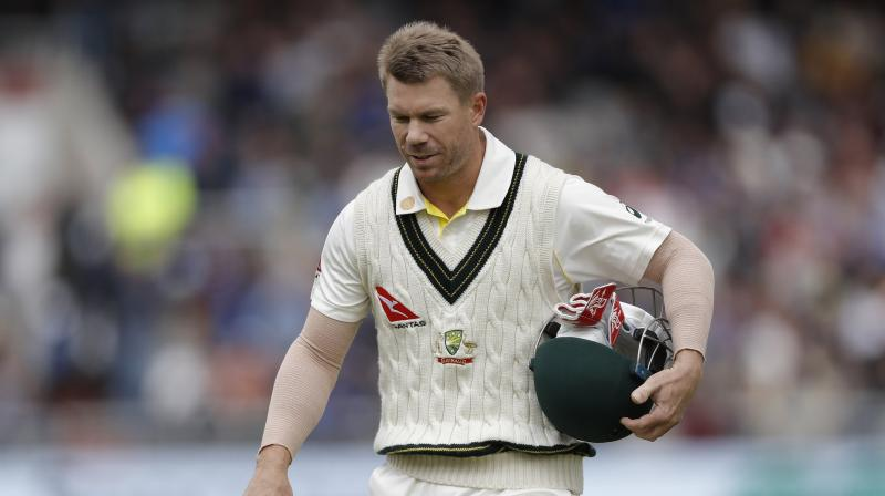 Australia batsman David Warner recorded his first pair in Test as he was bowled out for a duck in the second innings of the ongoing fourth Ashes Test against England on Saturday. (Photo: Twitter)