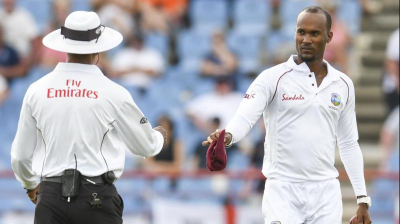 West Indies occasional off-spinner Kraigg Brathwaite on Monday was cleared to bowl in international cricket after an ICC-approved assessment.  (Photo:AFP)