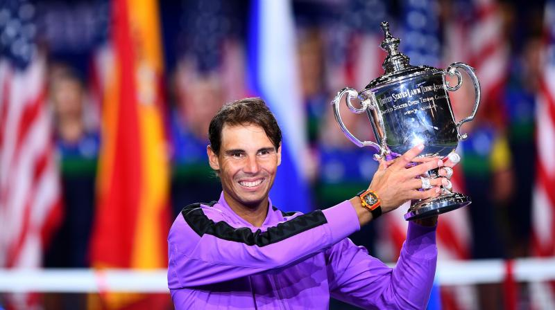 As Spanish tennis player Rafael Nadal scripted his 19th Grand Slam win, netizens lauded the player and sent in congratulatory messages on Twitter. (Photo: AFP)