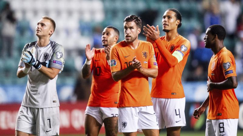 The Netherlands backed up their stunning 4-2 win over Germany in Hamburg last Friday by thrashing Estonia in Tallinn. (Photo: AP)