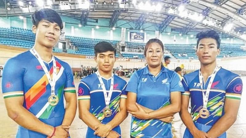 The Cycling Federation of India event was dominated by the host country last year and the same story is unfolding this year also. (Photo: Twitter)