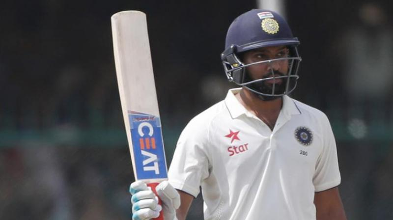 In his 27-match Test career, Rohit Sharma has managed 1585 runs at 39.62 with three hundreds and ten fifties to his name. (Photo: AFP)