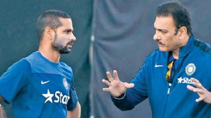 Here's how Ravi Shastri and Shikhar Dhawan spent their morning!