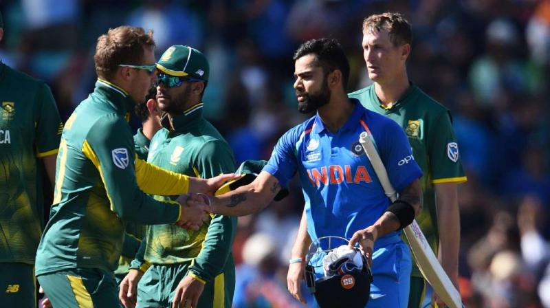 Terming India a dangerous side at home, former captain Sourav Ganguly on Monday said they start firm favourites to win the contests against South Africa. (Photo: AFP)