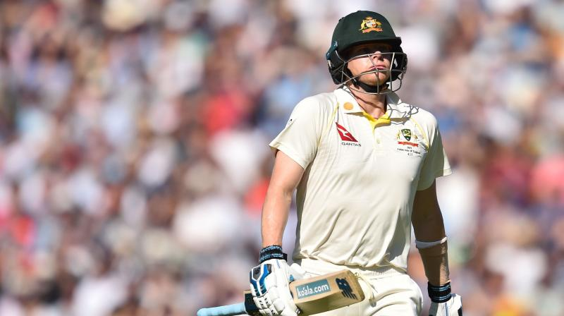 Steve Smith's innings of 23 runs was abruptly cut short by a beautiful Stuart Broad delivery, on the fourth day of the fifth Ashes Test. (Photo: AFP)