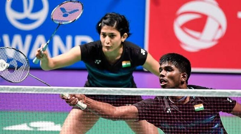 Satwik Rankireddy and Ashwini Ponappa outwitted the sixth-seeded Indonesian pair 22-20 17-21 21-17 in a 50-minute match to enter the second round of the USD 1,000,000 World Tour super 1000 tournament. (Photo: Twitter/BAI Media)