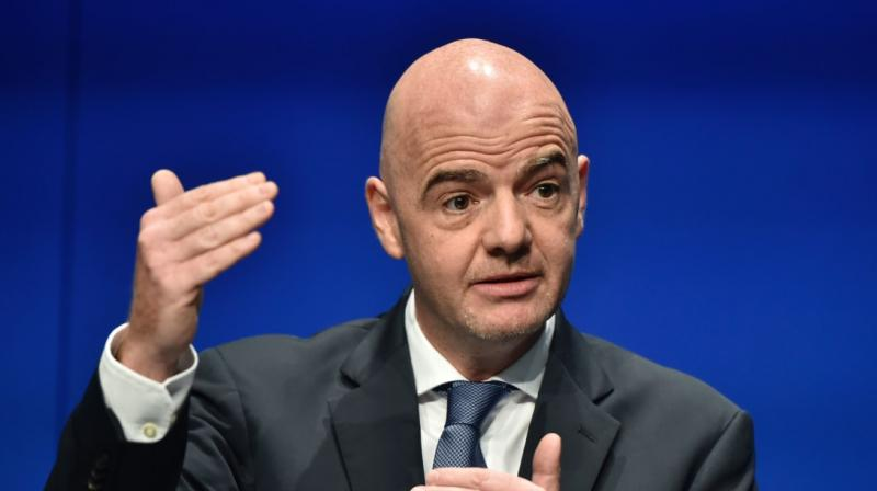"""FIFA president Gianni Infantino said Sunday the problem of racism in Italian football has """"not improved"""". (Photo: AFP)"""